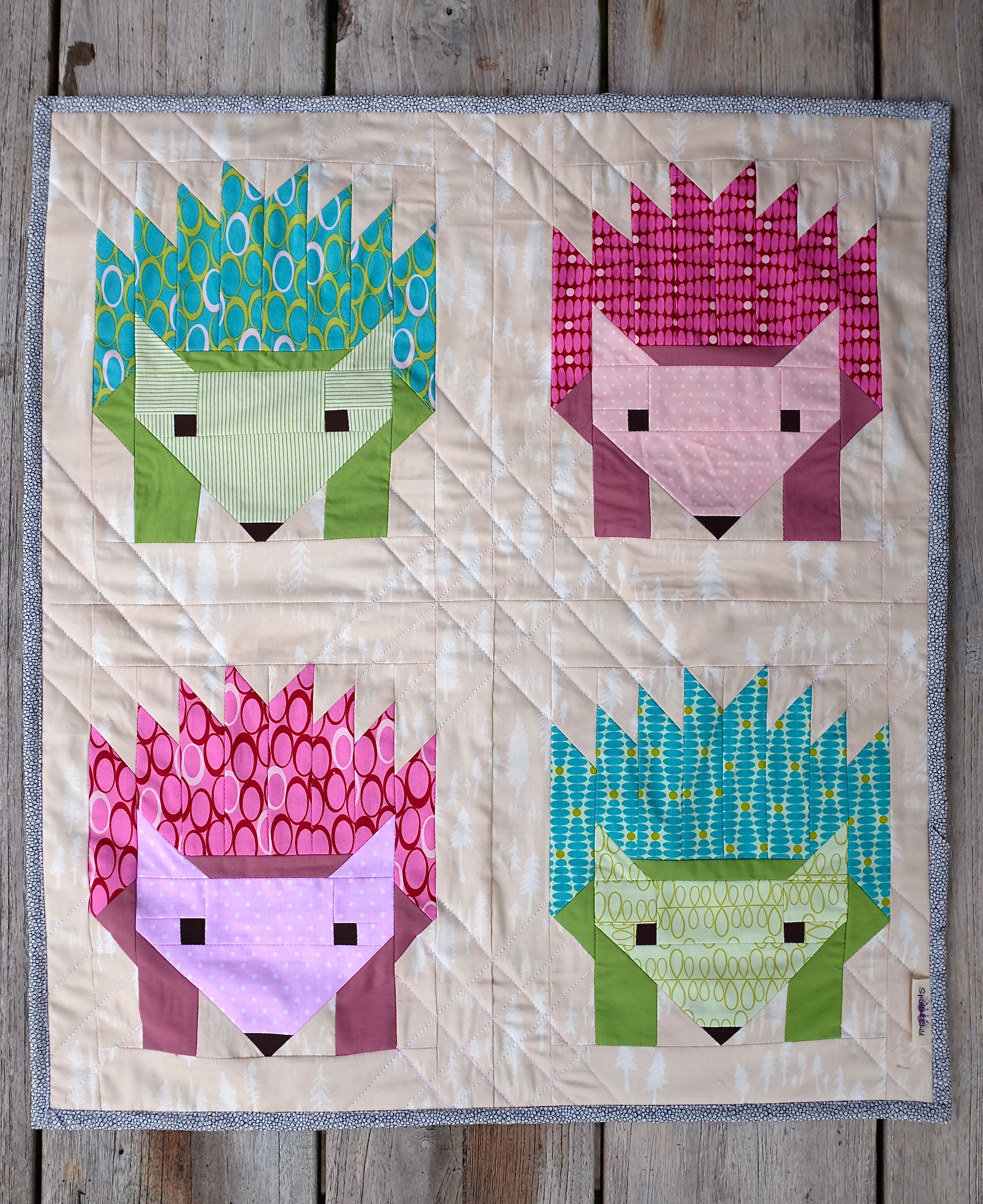 Hedgehog Mini Quilt