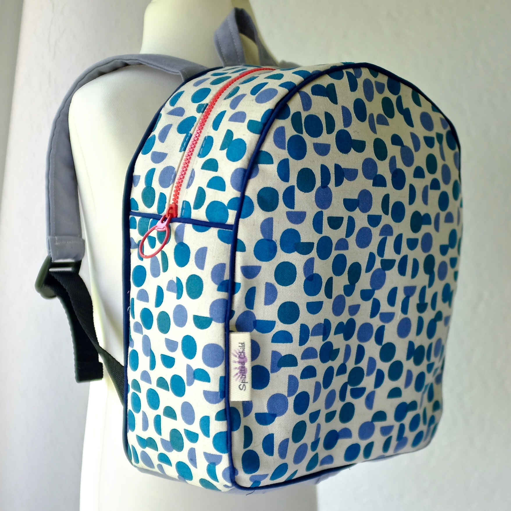 Scandi Blue Back Pack