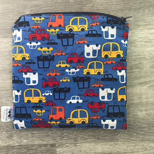 Blue Cars Snack Pouch