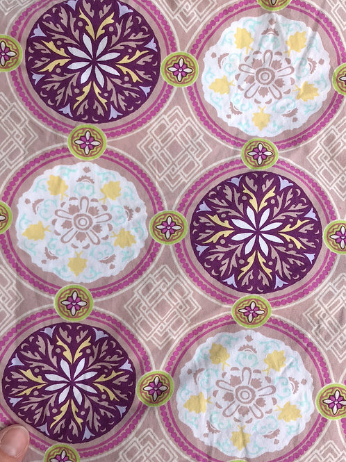 Pink Geometric Circles Bread Sack