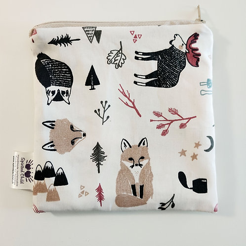 Forest Illustrations Snack Pouch