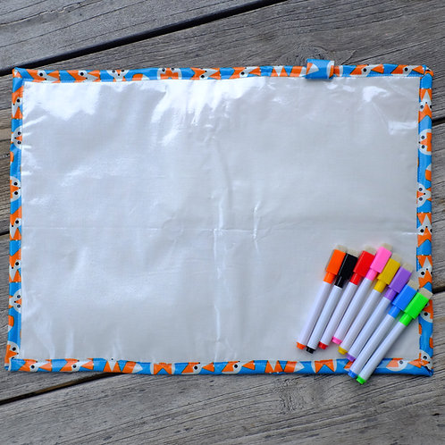 Rainbow Animal Wipe Clean Fabric Colouring Placemat