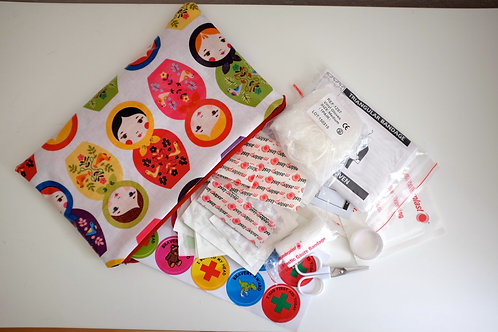 Babushka Doll First Aid Pouch with kit