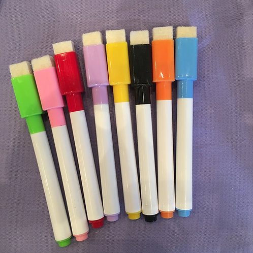 Replacement Dry Erase Pens - Wipe Clean mats