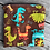 Thumbnail: Dinos Brown Zipper Snack Pouch