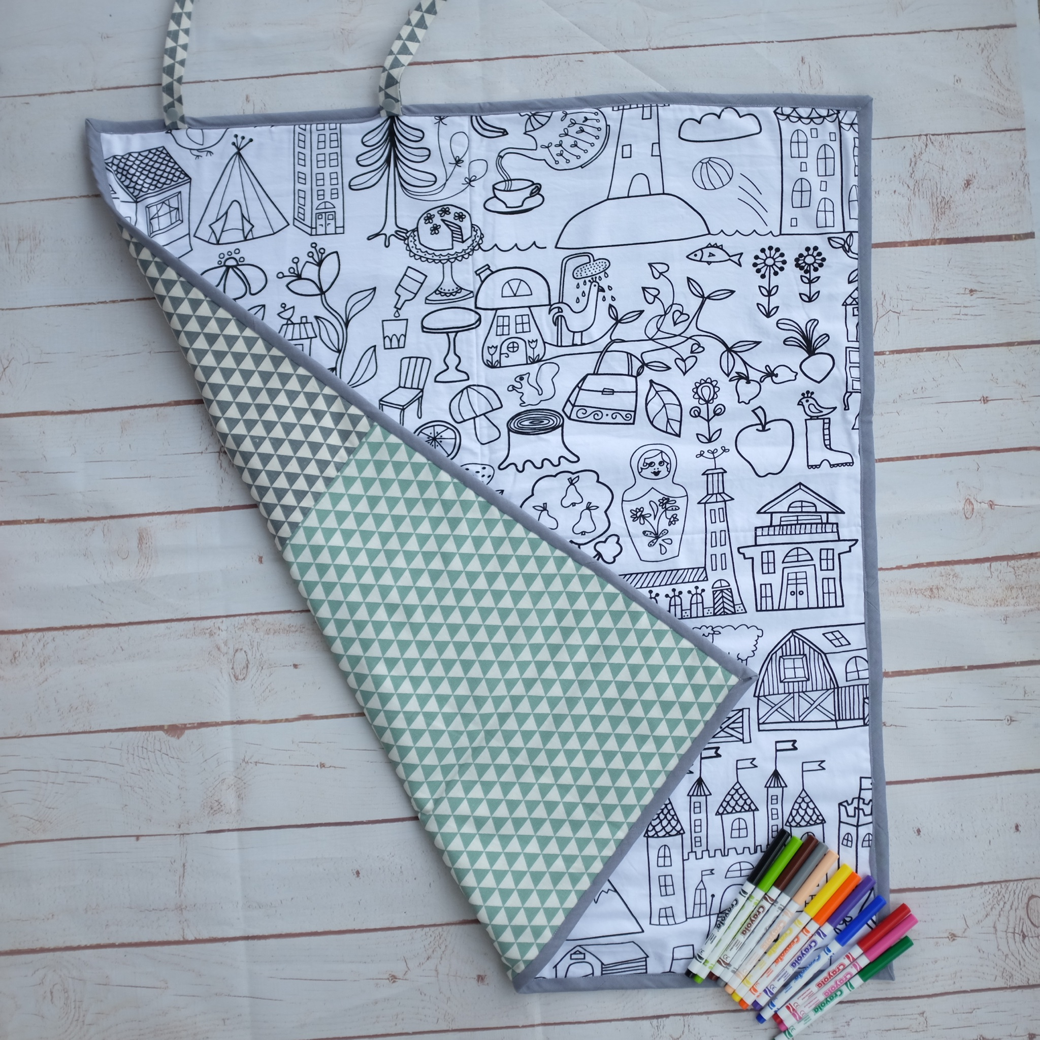 Scandi Inspired Colouring Play Mat