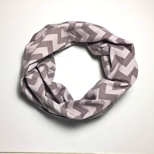 Grey Chevron Infinity scarf loop