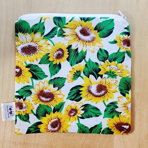 Sunflowers snack bag - White
