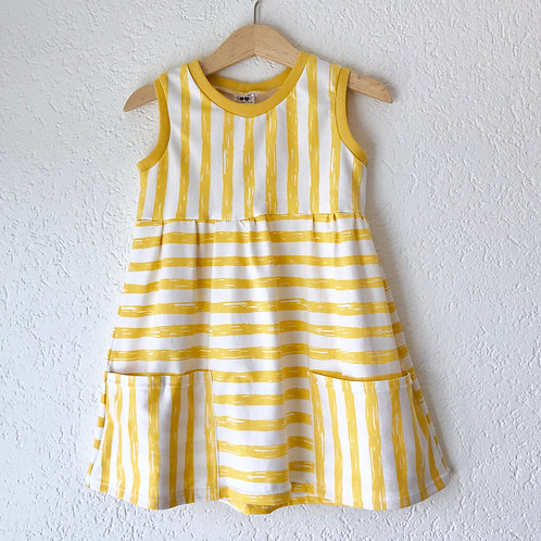 Contrast Stripe Pocket Dress