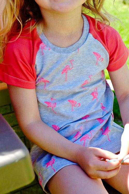 Pink Flamingos Raglan T-shirt