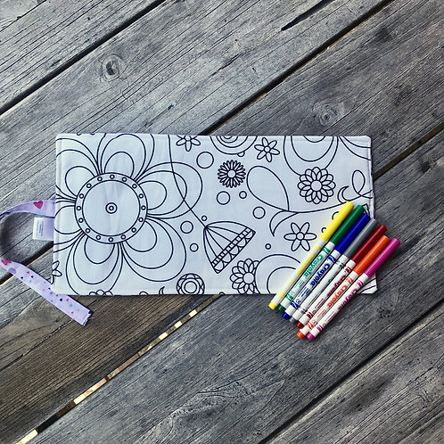 Rainbows & Clouds with Flower Power Colouring Mat