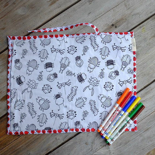 Ladybirds and Bugs Fabric Colouring Mat