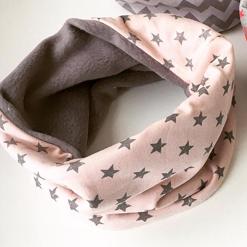 Blush Pink & Grey Stars Snood
