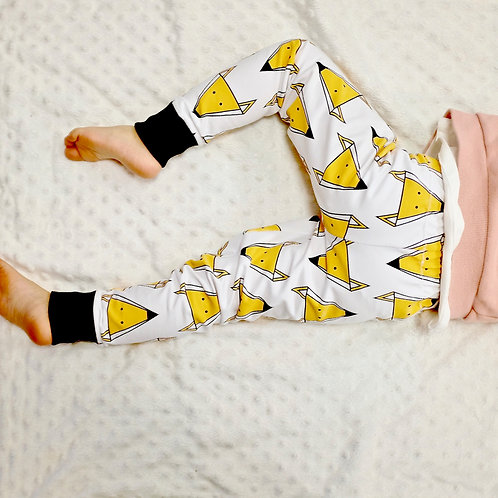 Geometric Foxes White Leggings