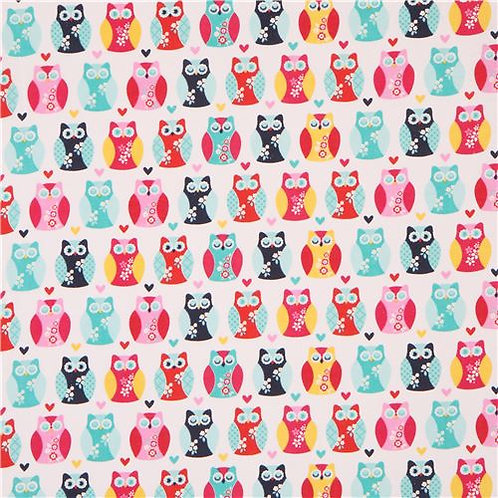 Cute Owl Turquoise Pink Plush Blanket