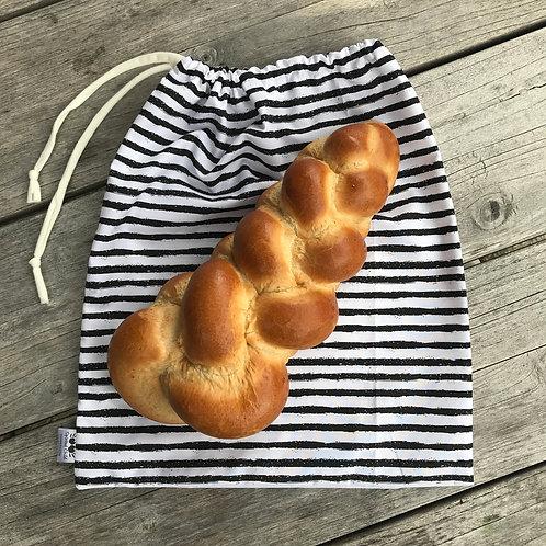 Monochrome Stripes Bread Sack