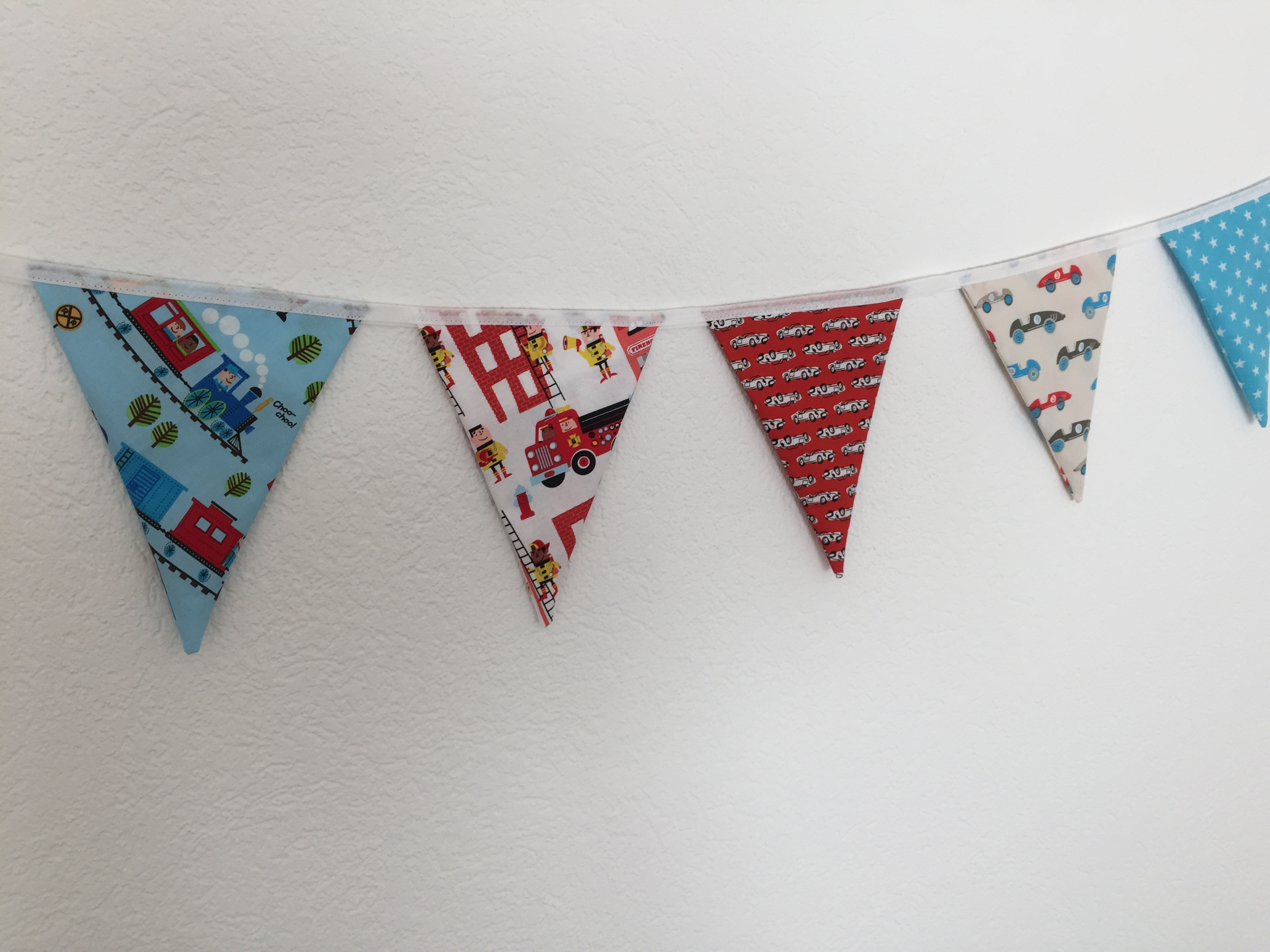 Trains and Trucks Bunting