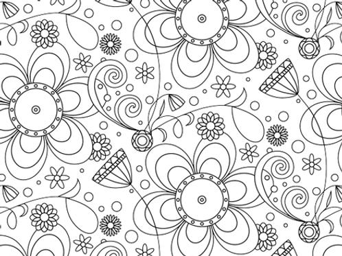 Wipe Clean Placemat - Flowers/Russian Doll