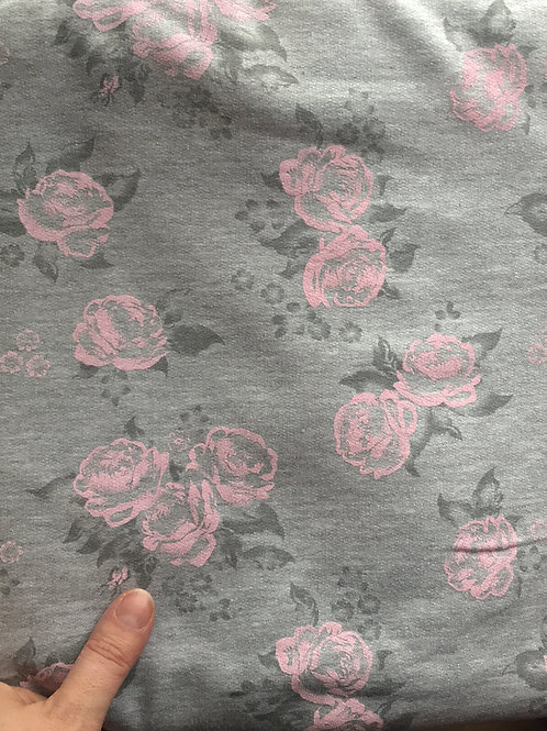 Roses on Grey Sweat Jersey