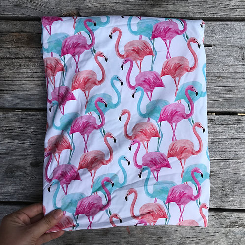 Flamingoes - on White