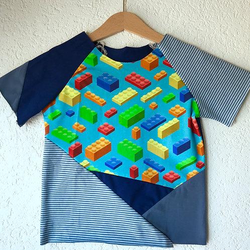 Lego Block - Blue Raglan T-shirt