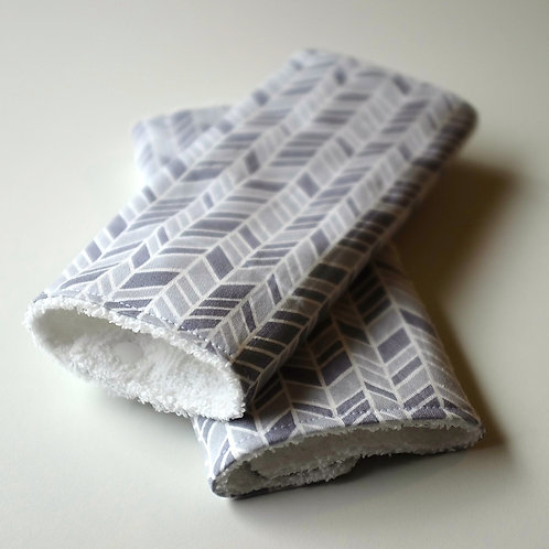 Grey Chrevron Weave Strap Covers