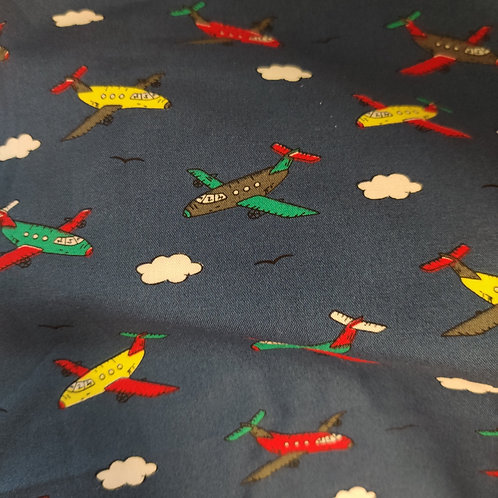 Navy planes and clouds snack bag