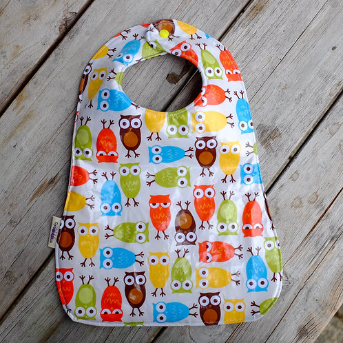 Owls Reversible Wipe Clean Bib