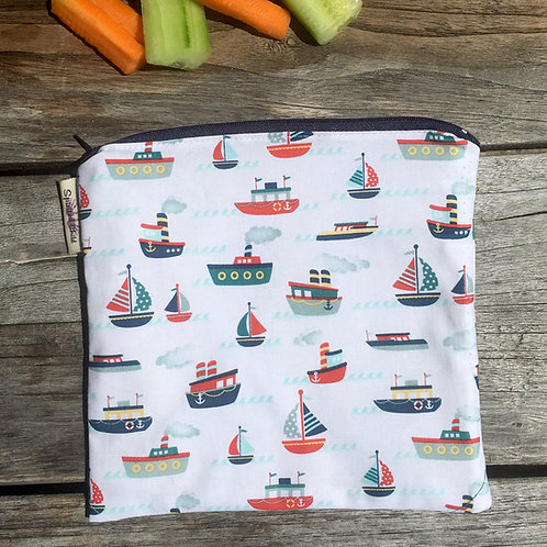Maritime - White Snack Pouch