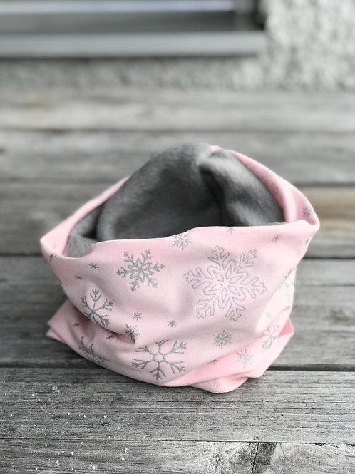Snow flake Snood Pink