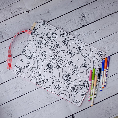 Daisys and Flower Power Colouring Mat
