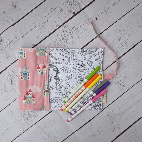 Castles in the Sky with Paisley Colouring Mat
