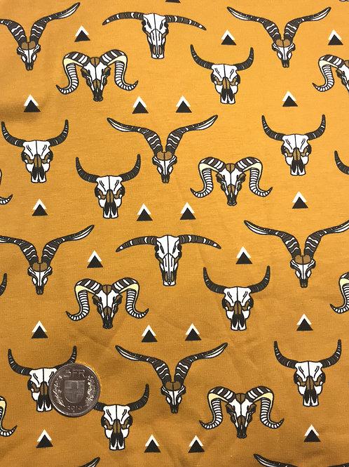 Mustard Animal Skulls Jersey