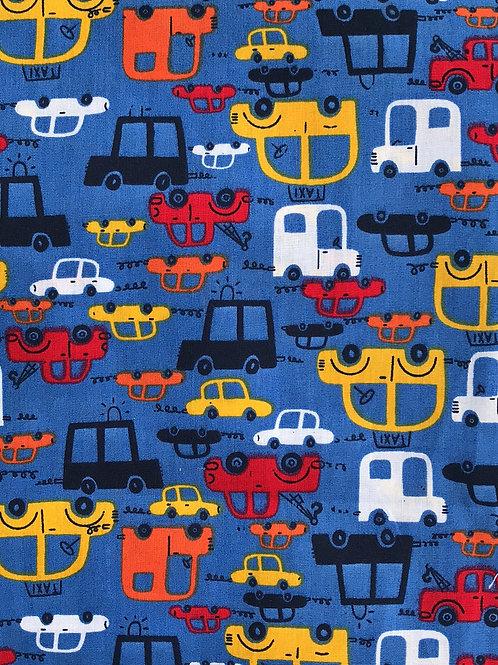 Blue Cars Bread Sack