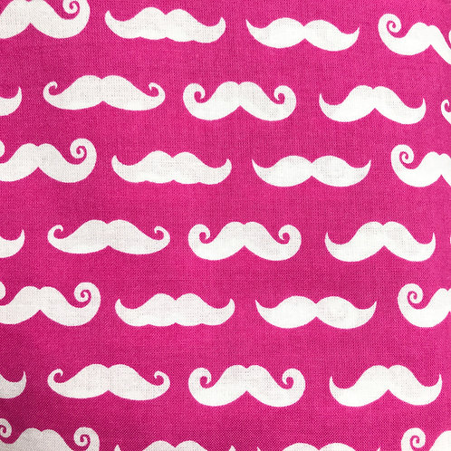 Moustache Pink Snack Pouch
