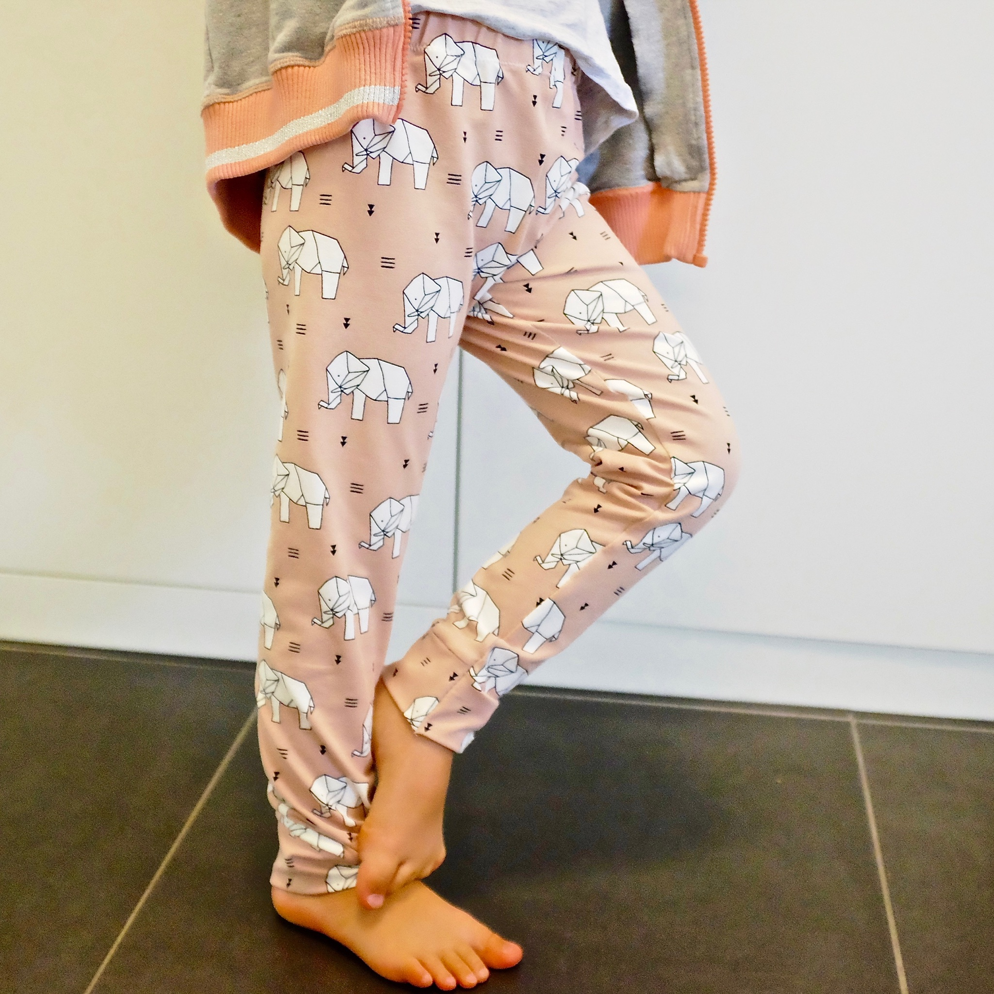 Origami Elephant leggings