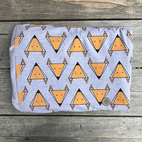 Geometric Foxes on Grey 80cm x 1m piece