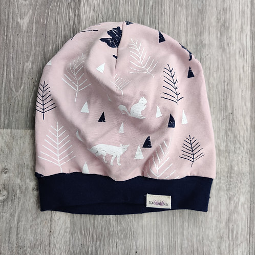 Pink Forest Slouchy Beanie