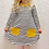 Thumbnail: Monochrome stripes/Ochre Pocket Dress