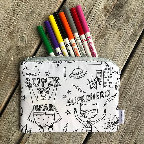 Superhereos Colouring Pencil Case