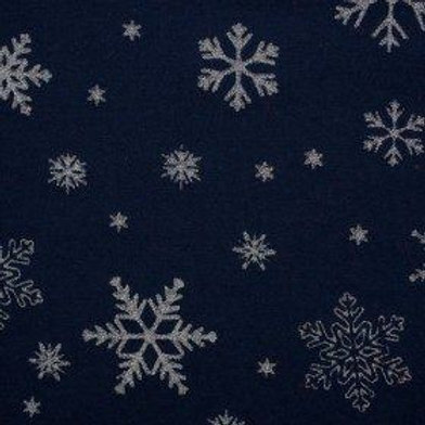 Navy Metallic Snowflake Leggings