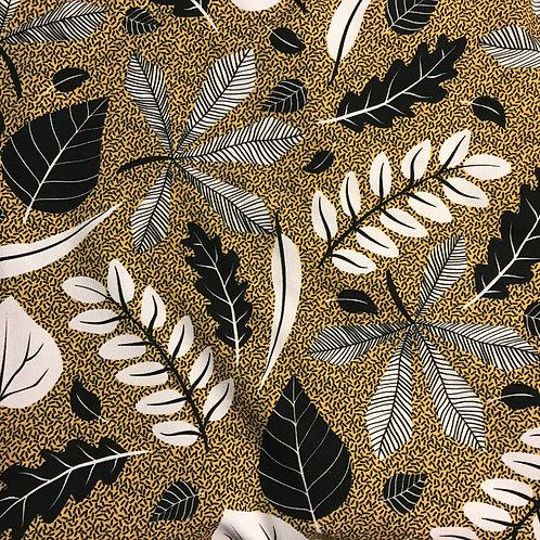 Monochrome Leaves - Ocher Yellow