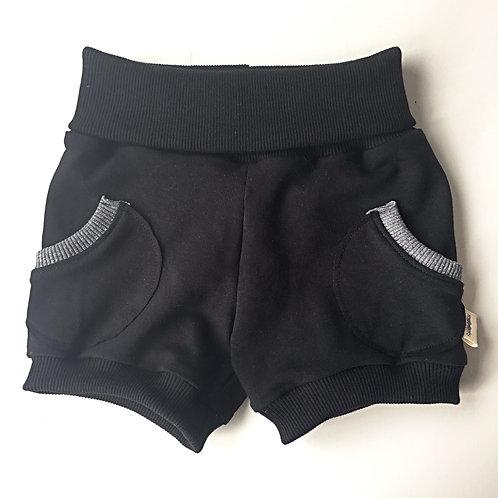 Black Pocket Lounge Shorts