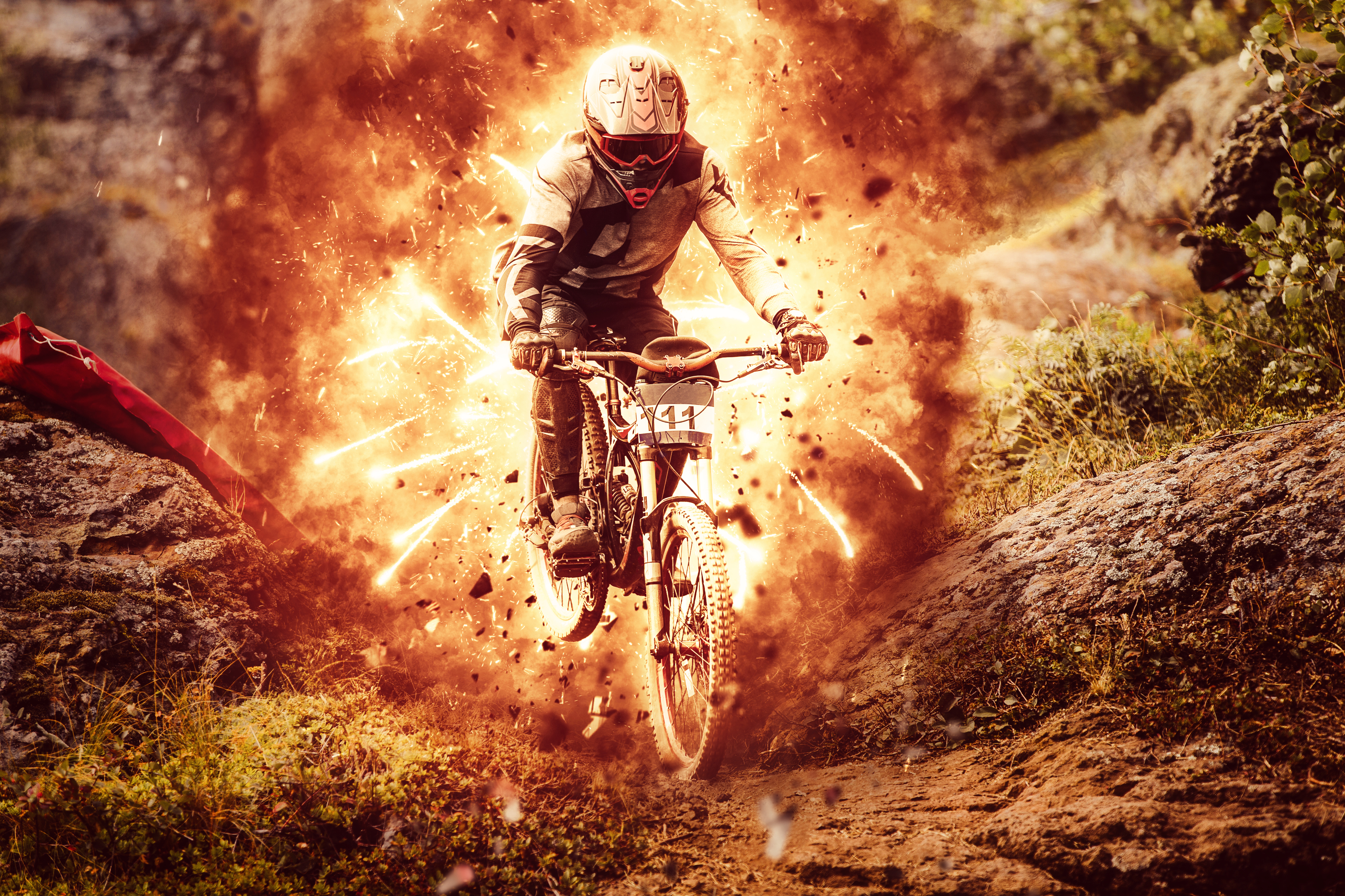 Explosion Photoshop Action: Downhill