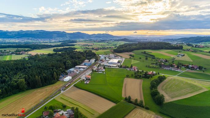 Luftaufnahme: Autokino Worb