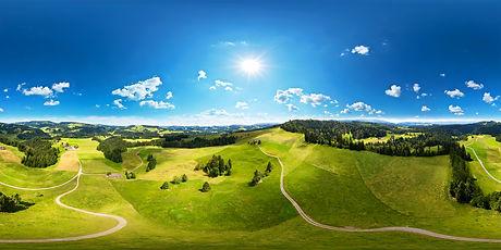 360°-Panorama aus dem Berner Mittelland