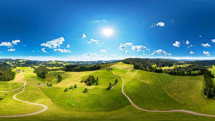 360°-Panorama aus dem schönen Berner Mittelland