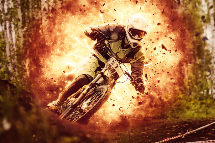 Explosion Photoshop Action: Downhill (Part II)