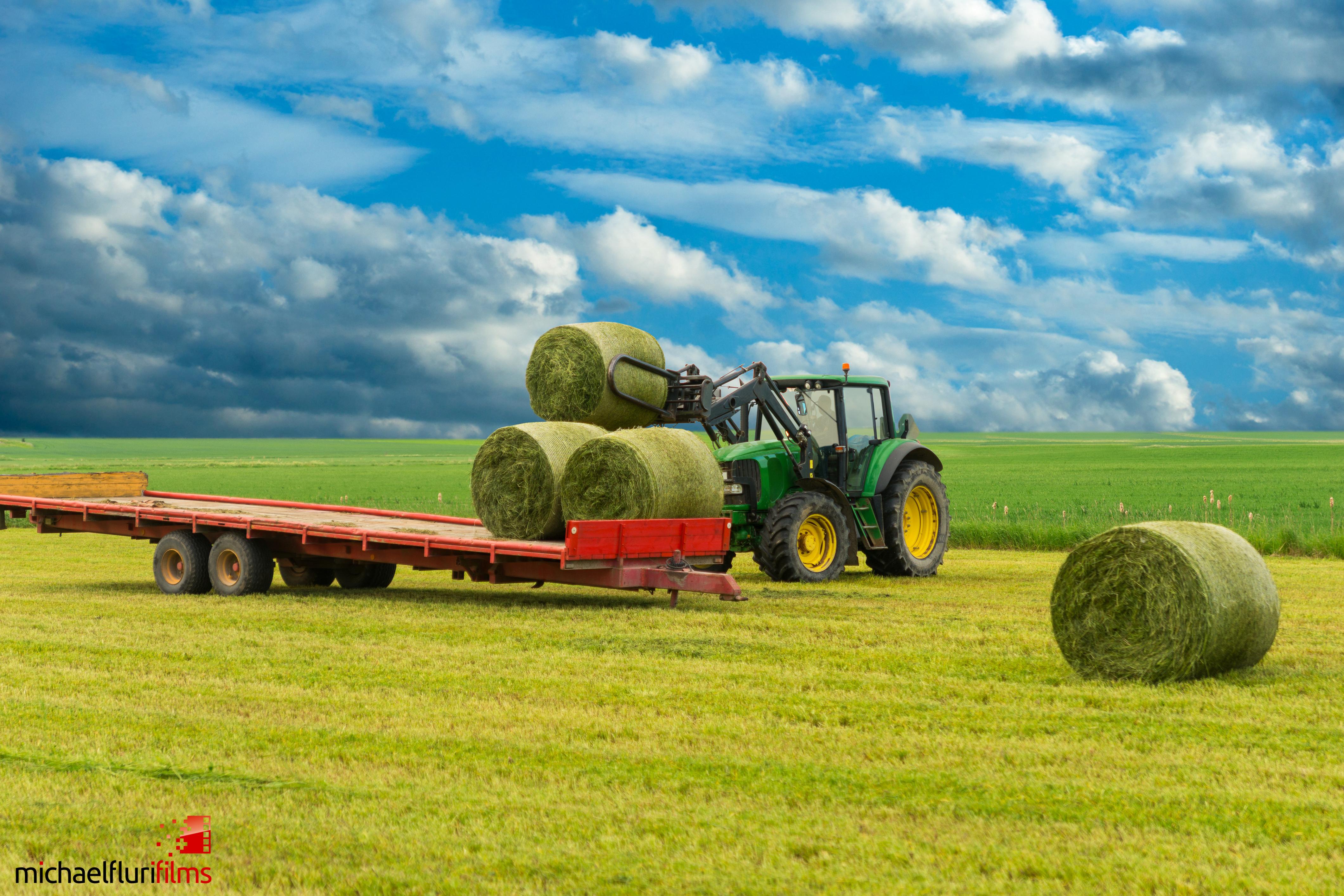 Rehkitzrettung: Traktor