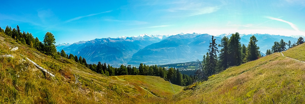 Panorama von Crans-Montana (Chetzeron)